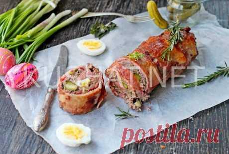 Мясной хлеб с яйцом и огурцом. Рецепт с фото • Кушать нет