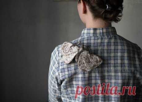 Мастер-класс по пошиву броши «Текстильный мотыльлек»