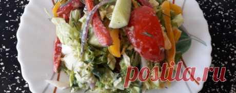 Салат овощной - Диетический рецепт ПП с фото и видео - Калорийность БЖУ