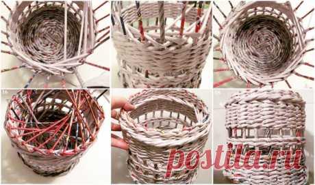 Плетение из газетных трубочек для начинающих пошагово: описание видов, фото схемы, мастер классы