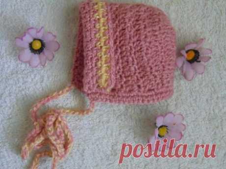 Детская шапка крючком схема и описание