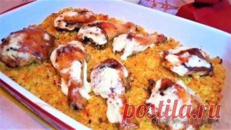 Мясо с рисом в духовке на ужин