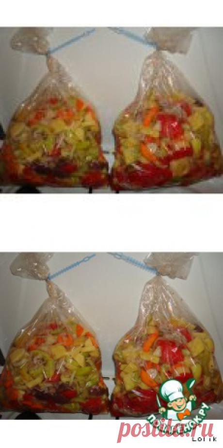 Овощное рагу в рукаве - кулинарный рецепт