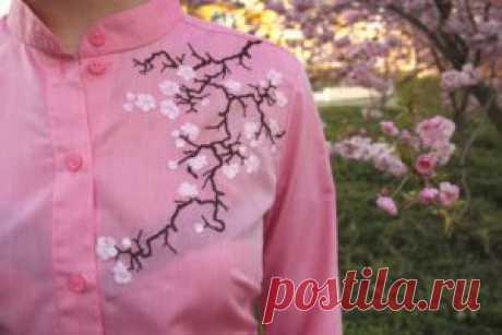 Вышивка на одежде схемы для начинающих, фото пошагово