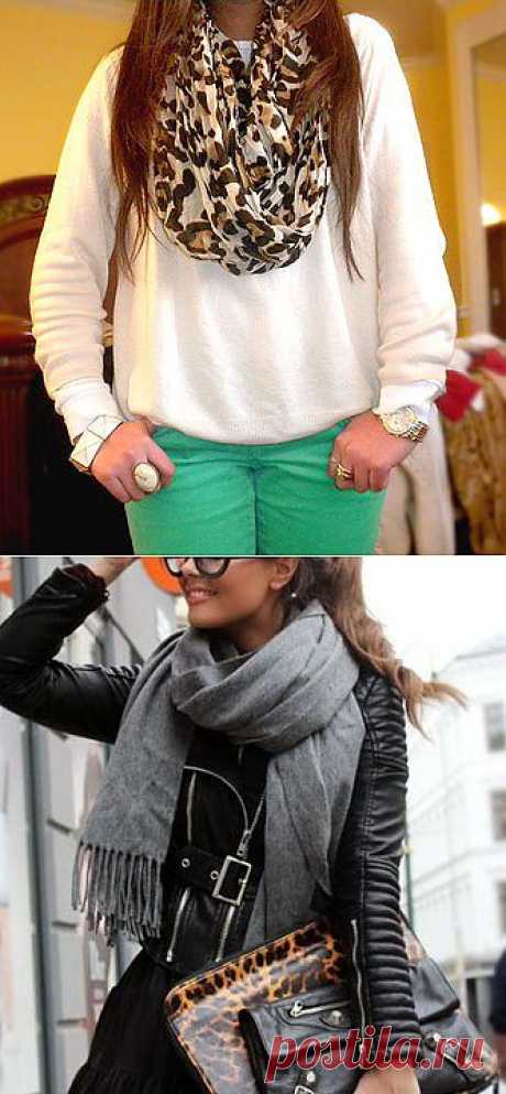 Как красиво завязывать шарф на шее: 80 вариантов (фото и видео) : Женский портал Брюнеточка