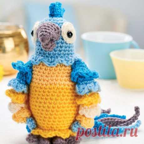 Попугай Диего: схема вязаной игрушки