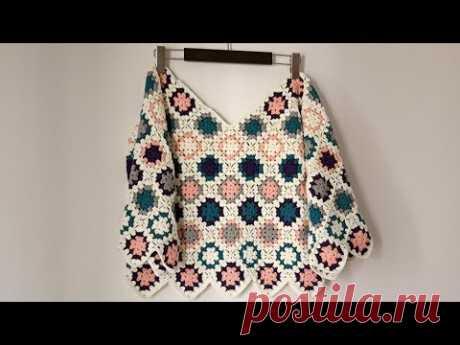 Как вязать - Вязальние цветной блузки с мотивом