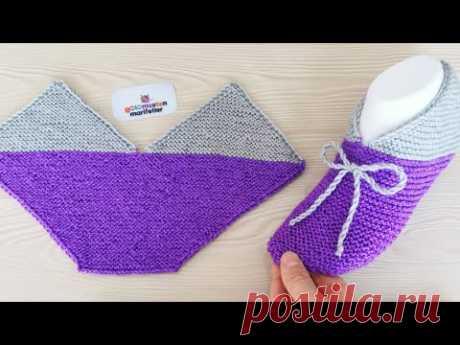 Непривычный метод вязания носков (Вязание спицами) – Журнал Вдохновение Рукодельницы