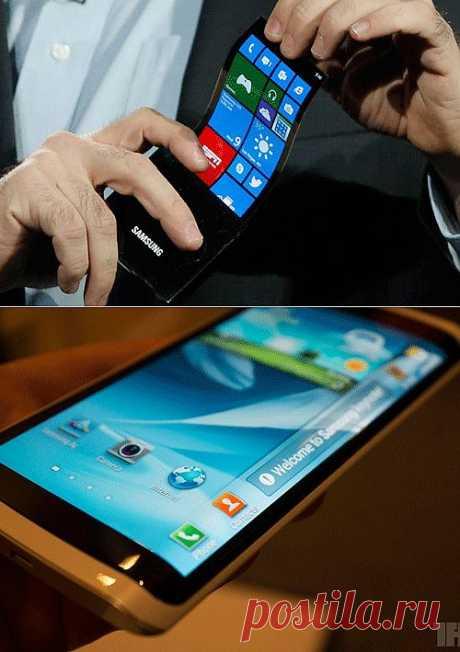 Изобретения: Samsung изобрел OLED гибкие дисплеи | Mvideoinfo