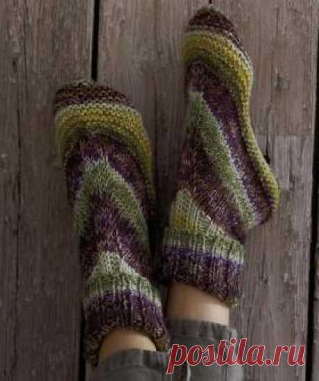 Домашние носочки спицами