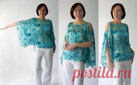 Создаем свой стиль: как сшить блузку своими руками без выкройки за один вечер | Тысяча и одна идея