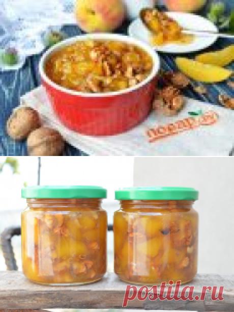 Варенье из персиков с грецкими орехами - пошаговый рецепт с фото на Повар.ру