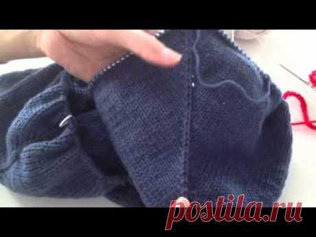 Sweter robiony od góry cz. 5