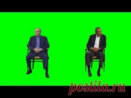Obama and Putin - Green screen