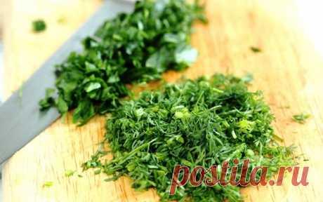 Как сохранить свежую зелень без консервации и заморозки! зеленое масло в банке - Советы и Рецепты