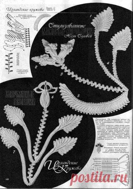 Дуплет. Ирландские кружева. Цветы и листья