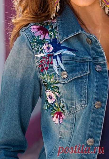Многообразный декор джинсовых курток: 30 интересных вариантов… Когда хочется придать изюминку! – Журнал Вдохновение Рукодельницы