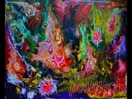 "Моя авторская техника рисования "" Волшебная палочка"". watercolor painting"