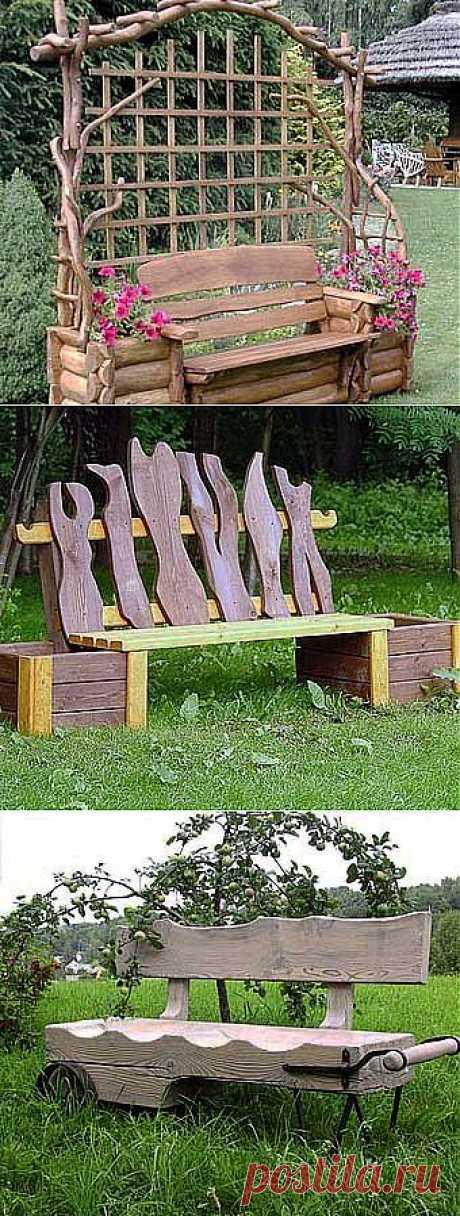 14 идей практичного дизайна: скамейки для дачи - Учимся Делать Все Сами