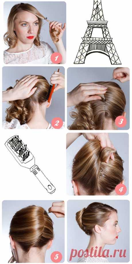 Los peinados en las condiciones de casa a los cabellos medios
