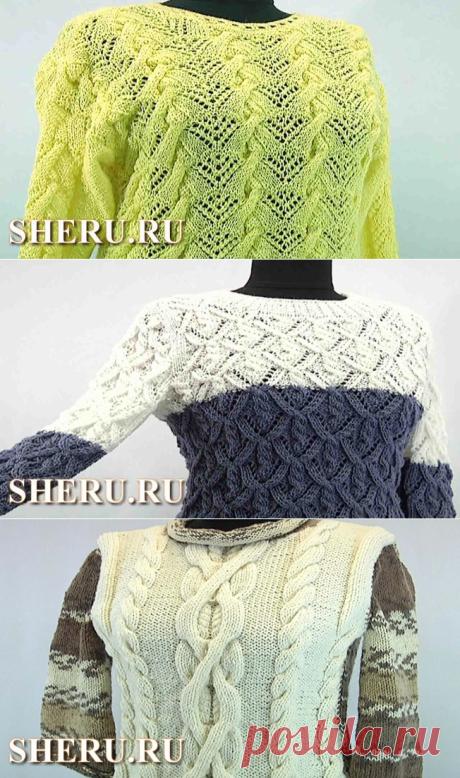 Вязание яркого свитера спицами. Видео 127 часть 1