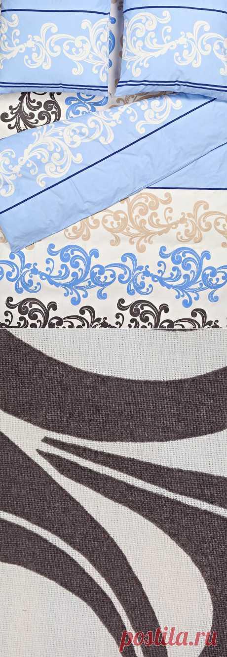 """Семейный комплект постельного белья Vasilisa поможет вам создать стильную атмосферу уюта в вашей спальне. Изделия созданы из натурального """"дышащего"""" хлопка. Гипоаллергенно! Белье оформлено красивыми узорами с изображением вензелей разных цветов.  Купить за 1 560 рублей. Для заказа - кликните по фотографии."""