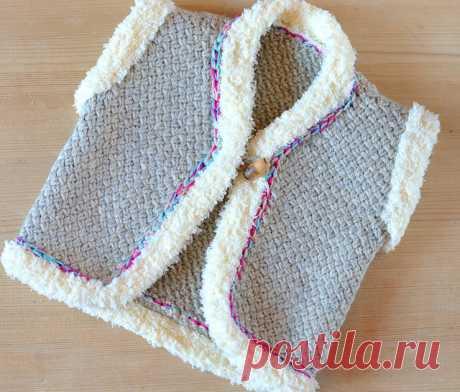 Ravelry: Wicker Stitch Baby Vest pattern by Caroline Brooke