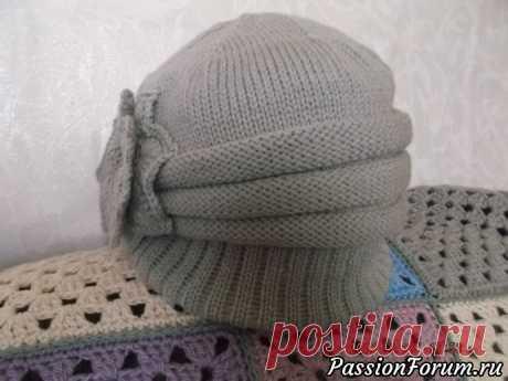 Шапочка - шляпка - запись пользователя Наталия (Наталия) в сообществе Вязание спицами в категории Вязание спицами аксессуаров