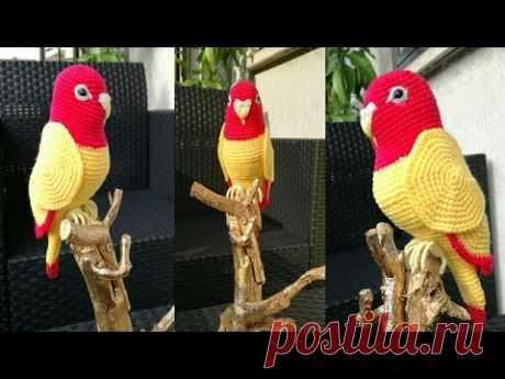 crochet bird amigurumi || crochet parrot Forum amigurumi || crochet toy parrots || কুশি কাটার কাজ