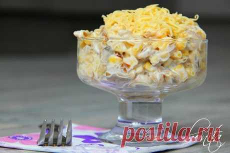 """Салат """"Пандора""""   Очень нежный и легкий. Он прост в приготовлении, обязательно украсит ваш праздничный стол.  Гости будут просить добавки) Попробуйте. Смотреть рецепт полностью"""