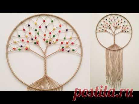 """DIY Atrapasueños """"ARBOL DE LA VIDA""""( paso a paso)   DIY Dreamcatcher """"TREE OF LIFE"""""""