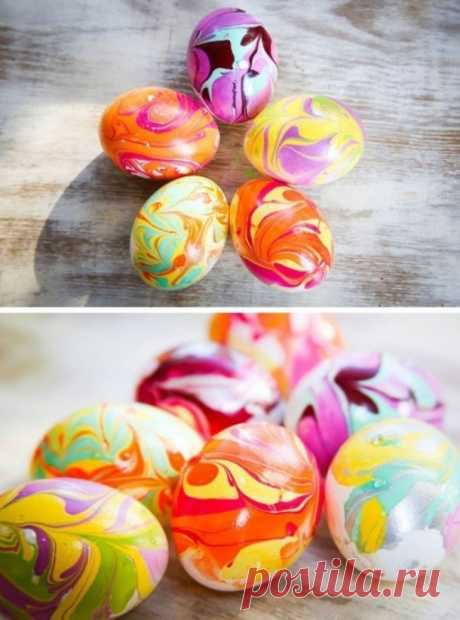 Как необычно покрасить яйца к Пасхе. Несколько оригинальных идей.