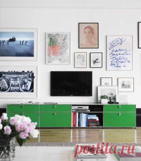 Оформление зоны телевизора в гостиной — Роскошь и уют