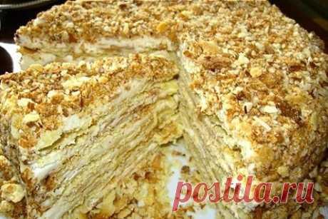 """Рецепт шикарного """"Наполеона"""" без выпечки: готовится просто Итак, для приготовления данного варианта торта """"Наполеон"""" вам будут нужны такие продукты..."""