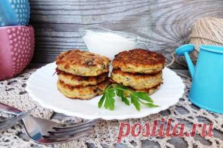 Овощные оладьи с шампиньонами — Sloosh – кулинарные рецепты