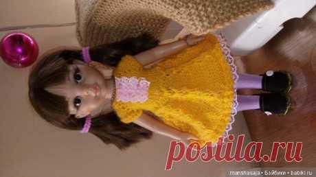 МК. Вяжем платье для куклы Паола Рейна, совместное творчество / Онлайн совместное творчество / Бэйбики. Куклы фото. Одежда для кукол