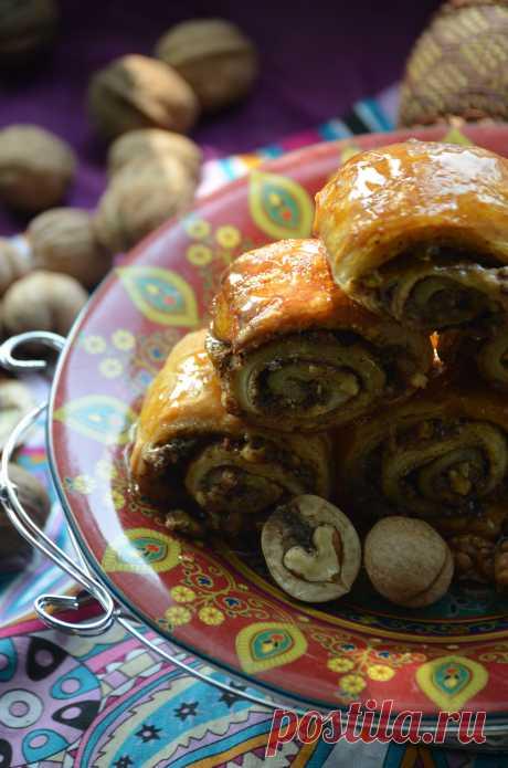 Ореховые трубочки по-египетски рецепт с фотографиями