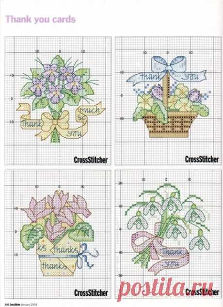 Вышиваем милые цветочные миниатюры