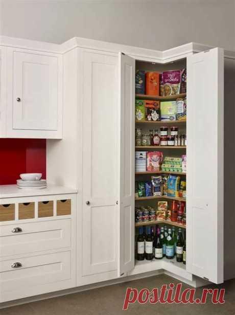 Интересное решение для хранения на кухне, занимает очень мало места. О таком решении не все догадываются. Угловой шкаф-кладовка для квартиры и дачи. Использование угла на кухне идея хорошая, но…