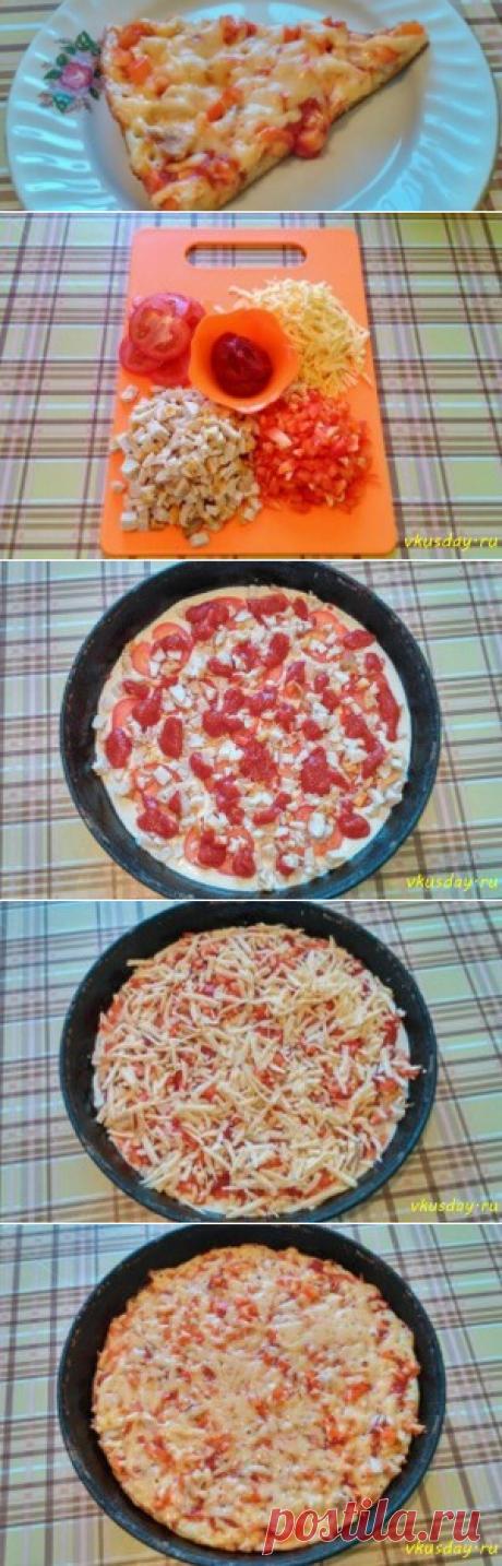 Пицца на сковороде   Вкусный день