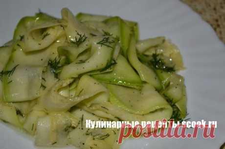 Салат из кабачков по-корейски |Рецепты вкусных блюд