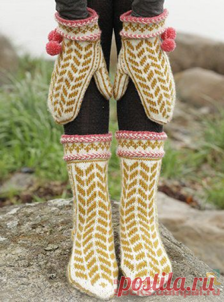Вязаные носки и варежки «Hokey Pokey» | ВЯЗАНЫЕ НОСКИ