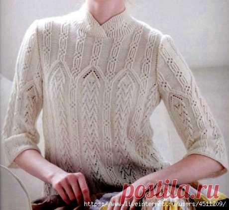 Пуловер с рукавом 2/3.
