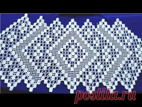 مفرش طاولة فيلي مع إمكانية تكبيره وتصغيره بالطول الذي تريدينه.الجزء3. Crochet tablecloths