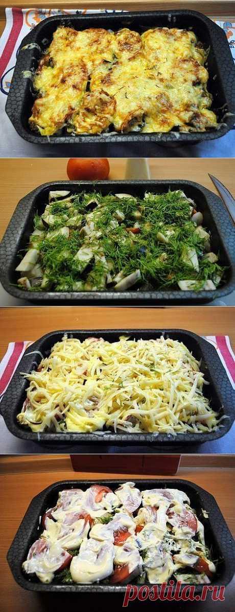 Овощное ассорти, запеченное с сыром - рецепт и способ приготовления, ингридиенты | sloosh