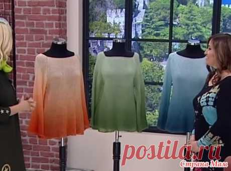 Блузка из Alize Angora Gold Ombre Batik. Видео - Вязание - Страна Мам