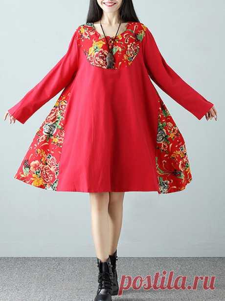 Hot saleЭтнические цветочные женские платья с длинными рукавами Cheap - NewChic