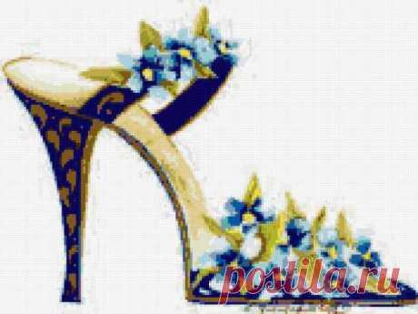 Предпросмотр - Схема вышивки «Цветочные туфельки» - Автор «poltanya» - Авторы - Вышивка крестом