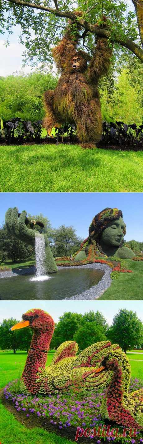 Скульптуры из растений. Международная выставка в Монреале.