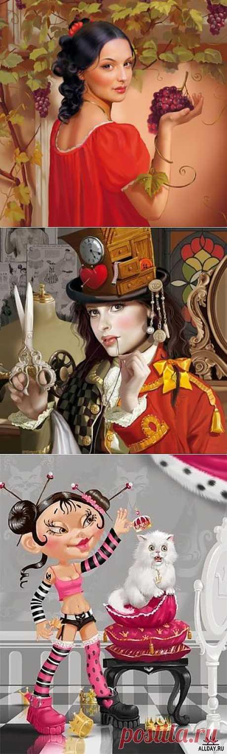 Красивые иллюстрации Татьяны Дорониной. » Поржать.ру
